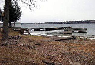 A dock in Morristown last month, posted by Susan Steffen LaRue to Save the River's Facebook page.