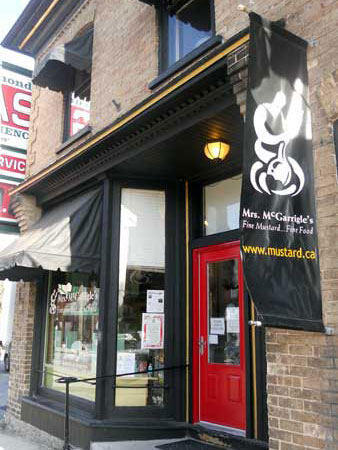 Mrs. McGarrigle's Fine Mustard anchors one of Merrickville's charming main streets.