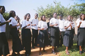 Members of the Mzuzu Youth Choir.