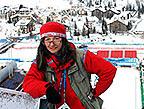 Nancie Battaglia in Italian Alps