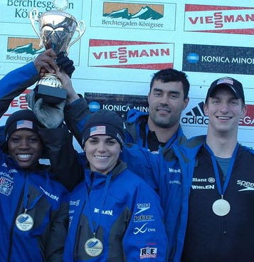 John Napier (right) celebrating with teammates (Source: USBSF)