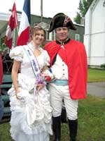Napoleon and the festival queen in Cape Vincent.
