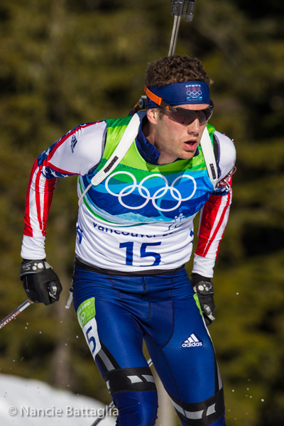 Biathlete Tim Burke from Paul Smiths finished in 22nd position. NCPR file photo:  Nancie Battaglia