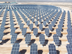North America's largest solar plant, covering 140 acres  (Photo courtesy of the Nellis Air Force Base)