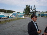 Stewart Belkin, President of Newstech NY, Inc., stands outside the mill in Newton Falls.