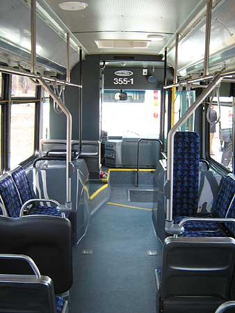 Inside one of Novo Bus's transit buses (File photo/Brian Mann)
