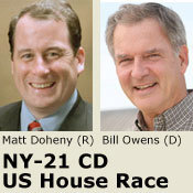 Democrat Bill owens leads the fundraising race in NY-21.