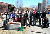 Young farmers gathered near Tarrytown, NY in 2009.