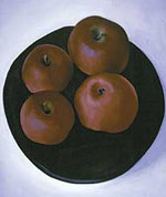 <i>Four Dark Red Apples--Black Tray</i>, 1920, Collection of Donna & Marvin Schwartz