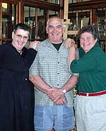 Sarah Cohen, store manager Mike Wilcox, and Linda Cohen