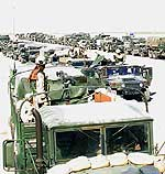 Convoy forming up in Kuwait
