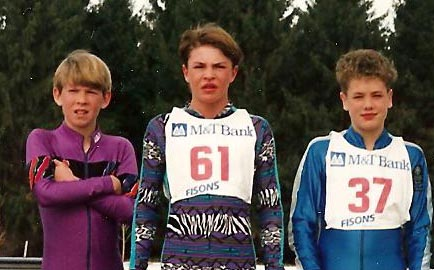 Future Olympians Lowell Bailey, Bill Demong, and Tim Burke as kids (Photo provided by Demong family)