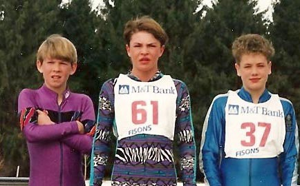 Future Olympians Lowell Bailey, Bill Demong, and Tim Burke as kids. Photo provided by the Demong family