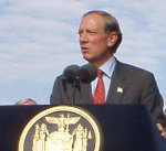 Governor Pataki unveils his 2003-2004 Budget. File photo.