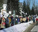 Anti-war marchers in Canton