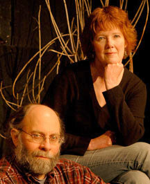 Bob Pettee and Susan Neal, co-founders of Pendragon Theatre in Saranac Lake.  Photo: Mark Kurtz