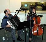 Matt Bullwinkel, accordion, and Beth Robinson, cello, of <i>Piquant</i> in the NCPR studio.