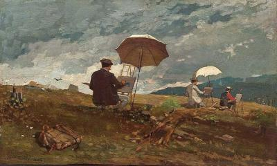 A 'plein air' painting by Winslow Homer.