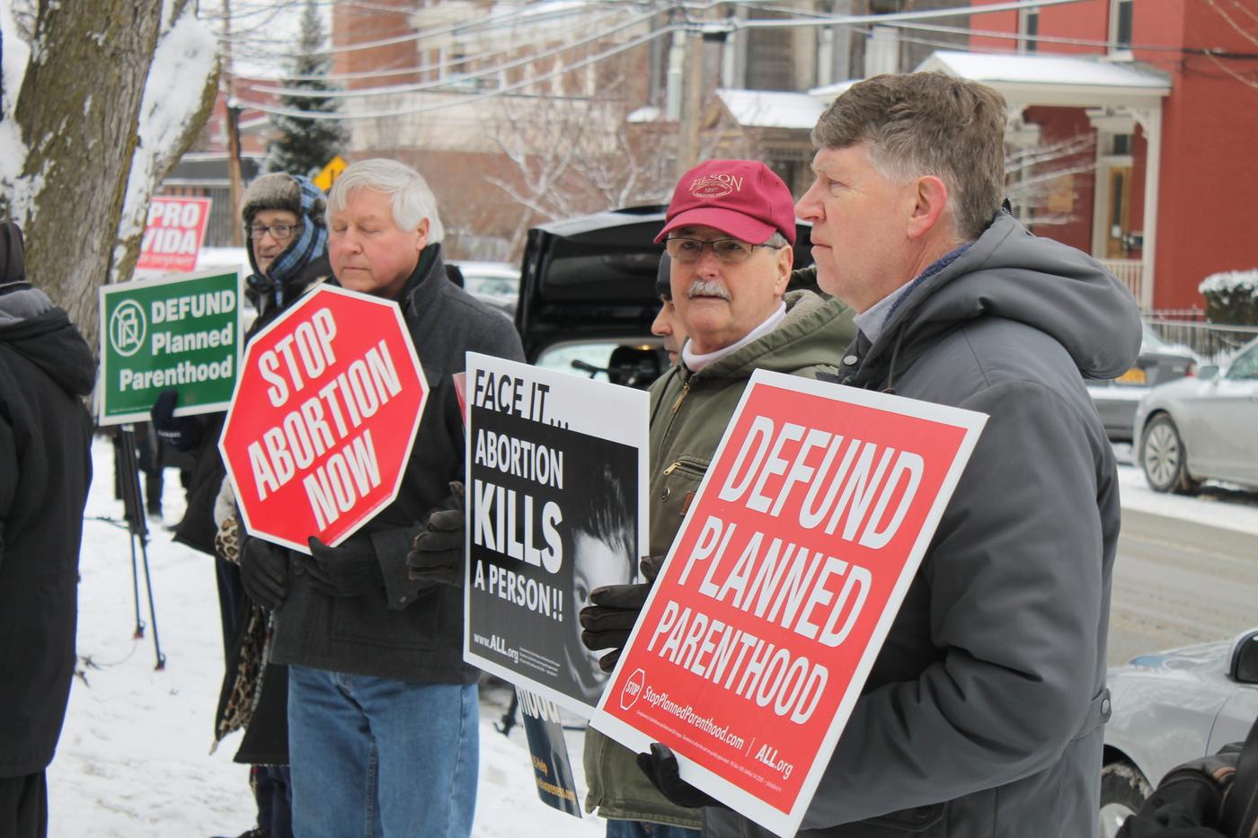 DC anti-abortion activists protest Planned Parenthood