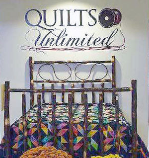 One of many quilts on display at View in Old Forge through December 2nd.  Photo: View