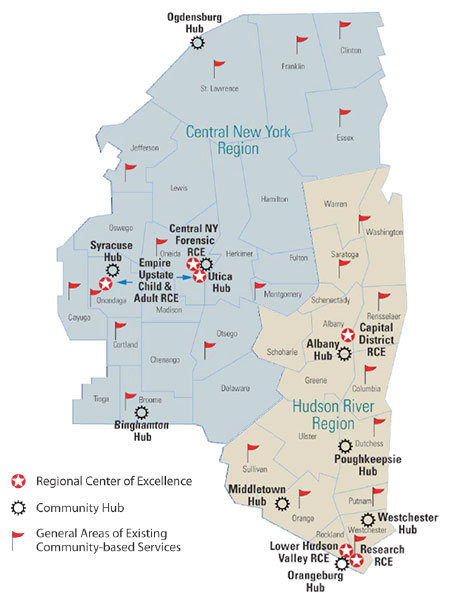 Mental health centers under the new plan. Image: New York State Office of Mental Health