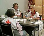 Hurricane Katrina relief volunteers from the Adirondack Saratoga Chapter of the Red Cross.