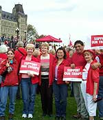 """Red Friday"" rally on Parliament Hill"