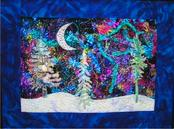"""The Snow Lay on the Ground"" quilt by Rebecca Muir MacKellar"