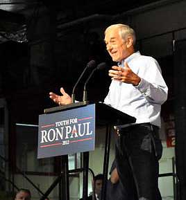 Ron Paul drew thousands to Cornell University Thursday night. (Photo: Matt Richmond)