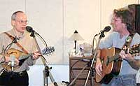 Roy Hurd (right) and Frank Orsini in the NCPR Studio