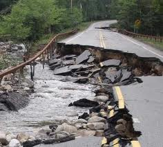 State Rt. 73, the highway from Keene Valley to the Northway, the week after flash floods of Tropical Strom Irene. (Photo: Brian Mann)