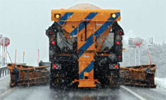 NYS DOT Salt truck clearing roads (Source: DOT)