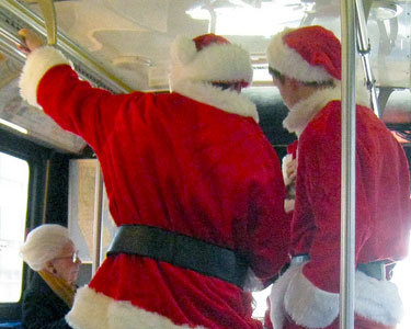 "A busload of Singing Santas will deploy to Burlington night spots tonight. Photo: <a href=""http://www.flickr.com/photos/superk8/6531220831/"">superk8nyc</a>, Creative Commons, some rights reserved"