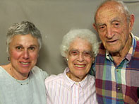 Babette and Walter Sonneborn with their niece Ellen Bettmann (left).