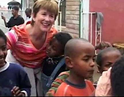 Carol Foster at the Selamta Project in Ethiopia.