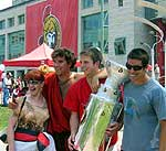 Senators fans crowd Festival Plaza outside Ottawa's City Hall