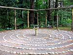 The labyrinth at Schroon Falls Farm, designed by Marjolaine Arsenault