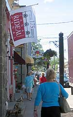 Shoppers in Merrickville