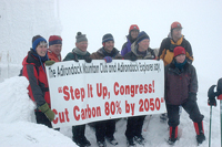 Step It Up activists on Whiteface Mountain (Photo:  Susan Bibeau/Adirondack Explorer)