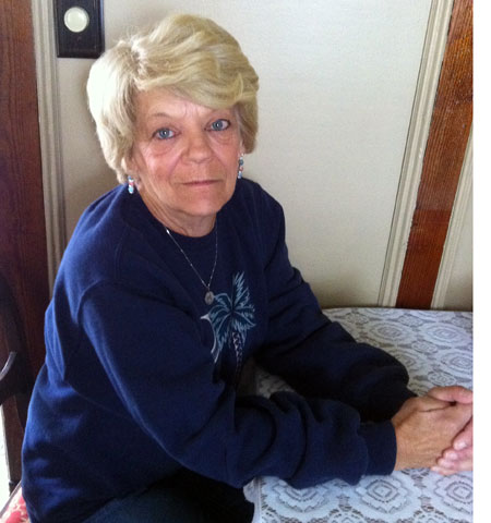 Sandy Johnson at her home in Ogdensburg. Photo: Julie Grant