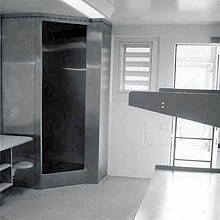 The New York Civil Liberties Union says isolation cells like this one are used far too often. Photo source: NYCLU