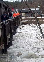 Ice crowds under the bridge in Ausable Forks (Photos courtesy of:  Martha Spear)