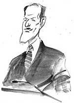 Eliot Spitzer accepts his nomination in Buffalo. Mark Wilson sketch