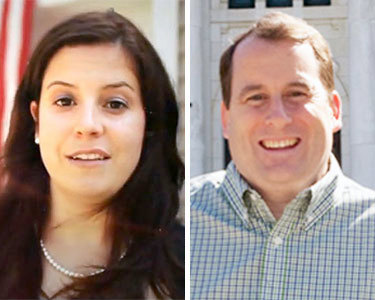 GOP candidates for the NY-21 congressional seat: Elise Stefanik (left) and Matt Doheny
