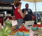 Cathy and Frank Stepnoski at the Malone farmers' market