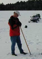 New APA chairman Curt Stiles inspecting Upper Saranac Lake (Source:  USL Foundation)