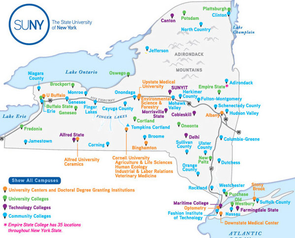 Colleges In Ny State Map.Ads Spin The Pros And Cons Of Cuomo S Tax Free Plan Ncpr News