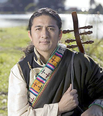 Tibetan folk singer-songwriter Techung will host a free workshop on Tibetan music and dance tonight, 5-8 pm, in Krinovitz Recital Hall, SUNY Plattsburgh.  Photo: Techung