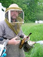 Beekeeper Terry McEvoy