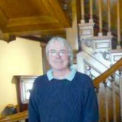 Ed LaVarnway in the main foyer of the Parish mansion.  The grand staircase was actually added decades after David Parish died in 1826.  The last Parish family member sold the home in 1879 and it was in private hands until 1923 when its doors opened to the public as the Remington Art Museum. Photo: Todd Moe